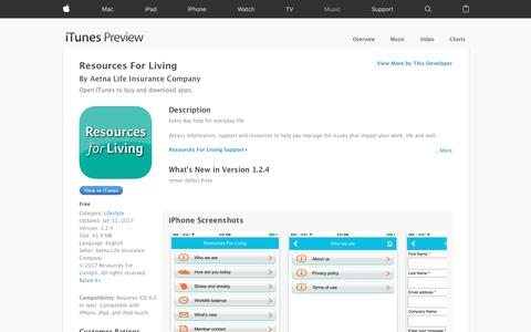 Resources For Living on the App Store