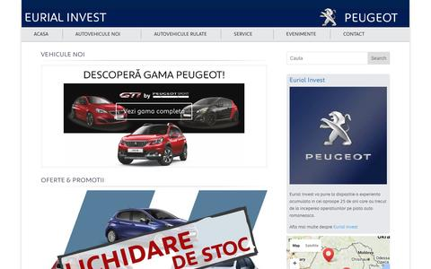 Screenshot of Home Page eurial.ro - Eurial Invest   Dealer auto noi si second hand - captured Oct. 17, 2016