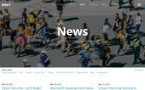 Screenshot of Press Page folio1.com.au - News | folio1 - captured June 6, 2017