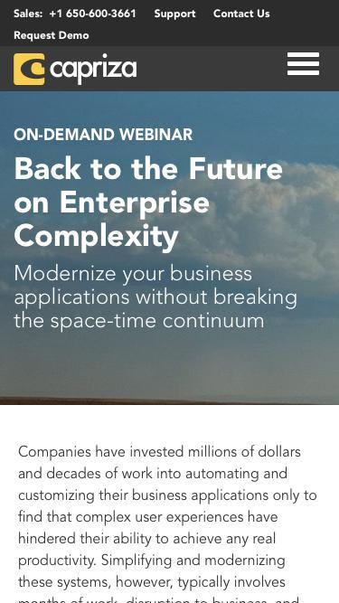Back to the Future | Capriza