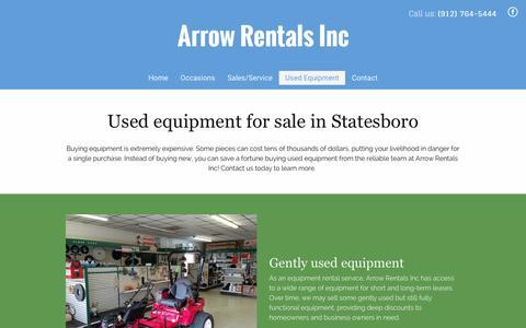 Screenshot of Team Page arrowrentals.com - Used Equipment for Sale   Statesboro, GA   Arrow Rentals Inc - captured April 28, 2017