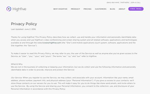 Privacy Policy - Highfive