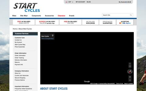 Screenshot of About Page startcycles.co.uk - About Start Cycles | Start Cycles - captured Jan. 13, 2016