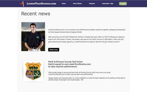 Screenshot of Press Page loweryourscores.com - LowerYourScores.com | Golf statistics | Improve Your Golf  | News - captured Nov. 14, 2016