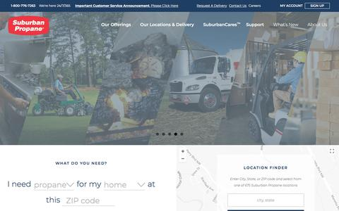 Screenshot of Home Page suburbanpropane.com - Suburban Propane | Residential & Commercial Propane Service - captured Jan. 25, 2018