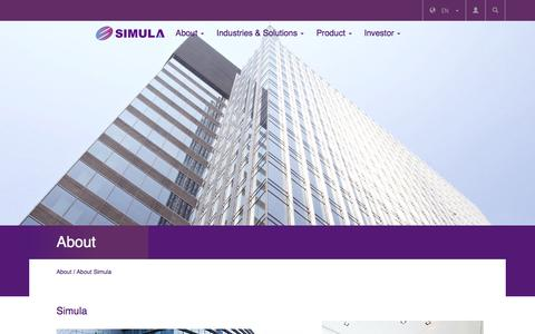 Screenshot of About Page simula.com.tw - SIMULA - captured Feb. 4, 2016