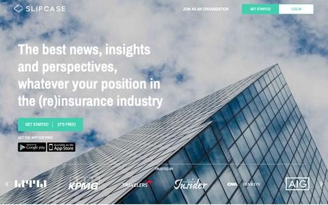 Screenshot of Home Page slipcase.com - Slipcase – (re)insurance industry news - Slipcase – (re)insurance industry news - captured Nov. 17, 2018