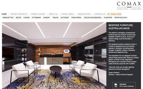 Screenshot of Home Page comaxaustralia.com.au - Designer Furniture Australia | Comax: Furniture Reimagined - captured Dec. 10, 2015