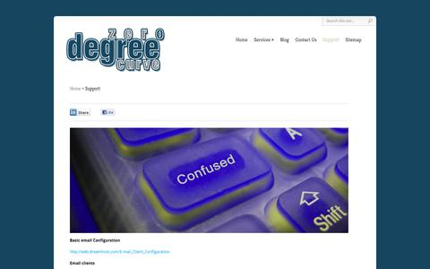 Screenshot of Support Page zerodegreecurve.com - Support | Zero Degree Curve - captured Oct. 9, 2014