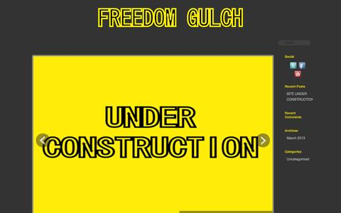Screenshot of Home Page freedomgulch.com - Freedom Gulch | A community for freedom. - captured Sept. 30, 2014