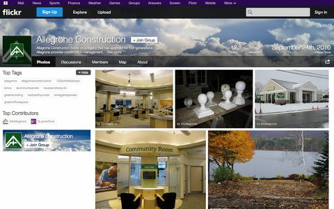 Screenshot of Flickr Page flickr.com - Flickr: The Allegrone Construction Pool - captured Oct. 23, 2014