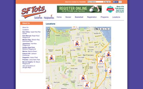 Screenshot of Locations Page sftots.com - Locations | SF Tots - captured Sept. 30, 2014