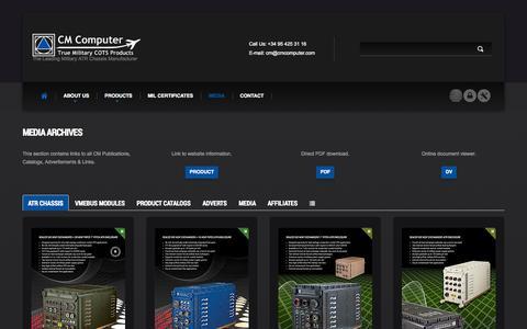 Screenshot of Press Page cmcomputer.com - CM Computer | Media Gallery - captured Oct. 1, 2014