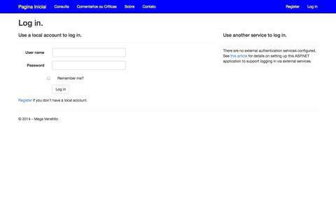 Screenshot of Login Page venetillo.com.br - Log in - FerramentasWEB - captured Nov. 3, 2014