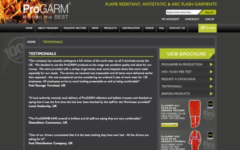 Screenshot of Testimonials Page progarm.eu - Testimonials - captured Oct. 3, 2014