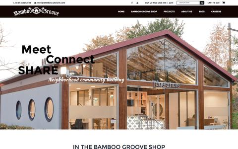 Screenshot of Home Page bamboo-groove.com - Dutch Bamboo Design | Bamboo-groove.com - captured Dec. 29, 2015