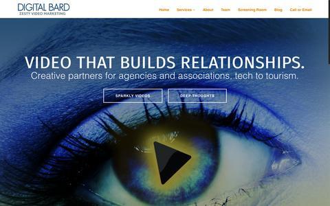 Screenshot of Home Page digitalbard.com - Digital Bard   Video marketing that builds relationships. - captured Sept. 12, 2015