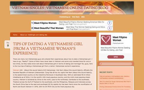 Screenshot of Blog vietdating.us - Vietnam Singles   Vietnamese Online Dating Blog - captured Sept. 23, 2018