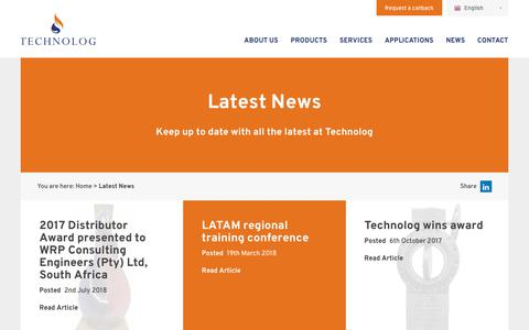 Screenshot of Press Page technolog.com - News - Technolog news up dates Utilitec Services and Utility Data Services - captured Oct. 20, 2018