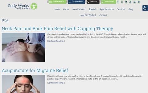 Screenshot of Blog bodyworkschicago.com - Blog | Body Works Health & Wellness - captured Oct. 6, 2018
