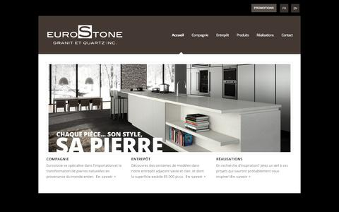 Screenshot of Home Page eurostone.ca - Eurostone | - captured Feb. 10, 2020