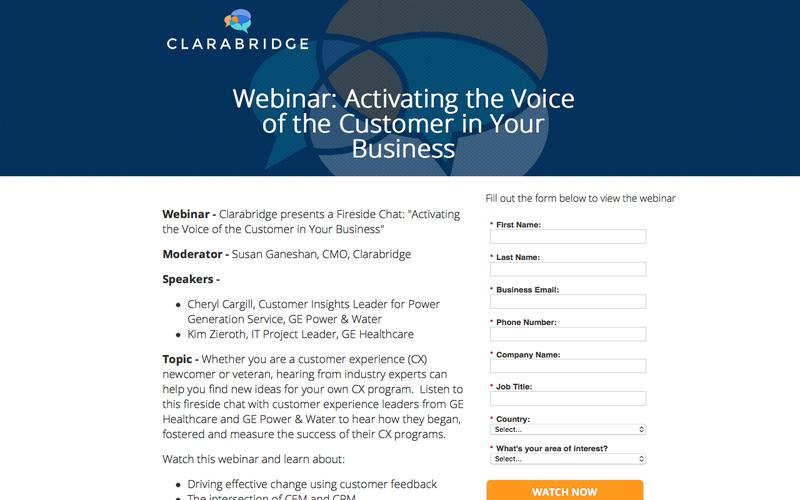 Webinar: Activating the Voice of the Customer in Your Business | Clarabridge