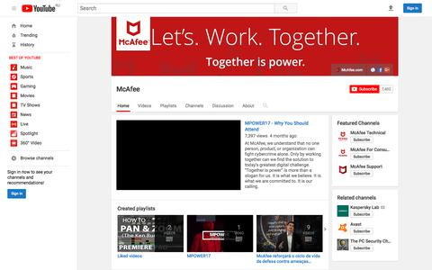 McAfee  - YouTube