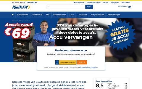 De accu van je auto vervangen? Bestel nu online op KwikFit.nl!