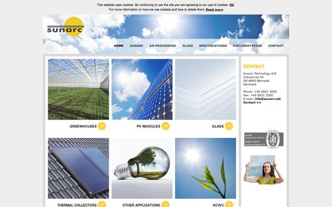 Screenshot of Home Page sunarc.net - HOME - captured Oct. 7, 2014