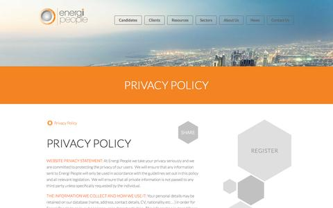 Screenshot of Privacy Page energi.uk.com - Privacy Policy - captured Oct. 2, 2014