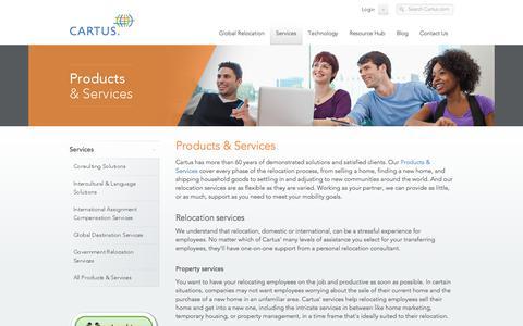 Screenshot of Services Page cartus.com - Relocation and Program Management Services – Cartus - captured Jan. 16, 2018