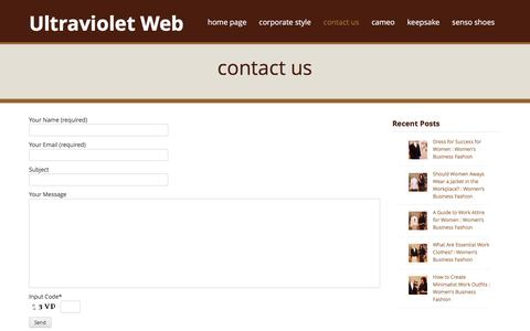 Screenshot of Contact Page ultravioletweb.com - contact us | Ultraviolet Web - captured Feb. 13, 2016