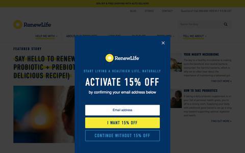 Screenshot of Blog renewlife.com - Renew Life | Learning Takes Guts - captured Nov. 7, 2019