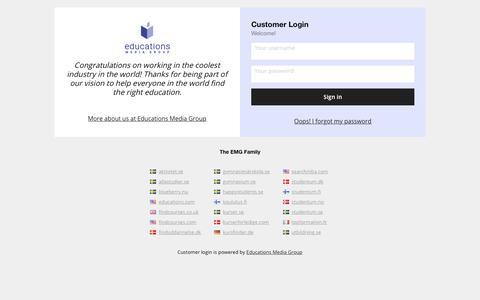 Screenshot of Login Page educations.com - EMG - Customer Login - captured Nov. 15, 2019