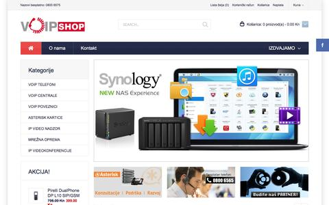 Screenshot of Home Page voip-shop.hr - VoIP-Shop.HR - captured Nov. 25, 2016
