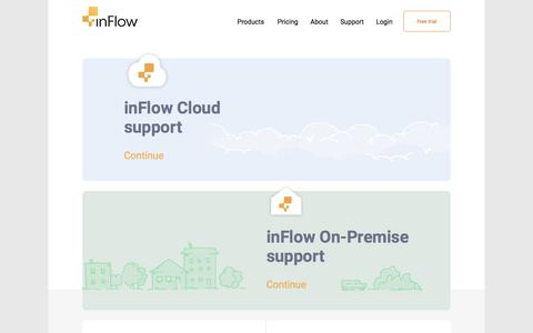 Screenshot of Support Page inflowinventory.com - inFlow Inventory Support - - captured July 31, 2017