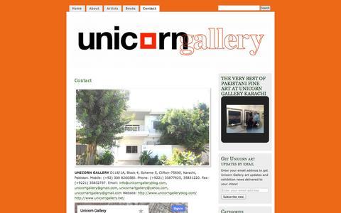 Screenshot of Contact Page unicorngalleryblog.com - Contact | UNICORN GALLERY - captured Oct. 27, 2014