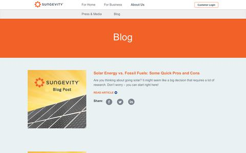 Screenshot of Blog sungevity.com - Blog - Sungevity - captured Aug. 21, 2019