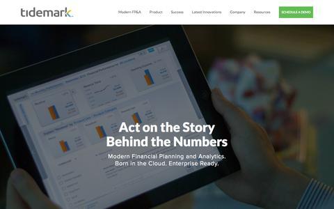 Screenshot of Home Page tidemark.com - Tidemark - Corporate Performance Management Software - captured Nov. 10, 2015
