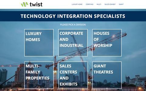 Screenshot of Home Page twisttechllc.com - Twist - Premier U.S. Technology Integration Specialists - captured Dec. 2, 2016
