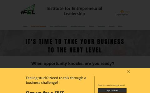 Screenshot of Services Page ifelnj.org - Institute for Entrepreneurial Leadership | Programs & Services - captured Oct. 12, 2018