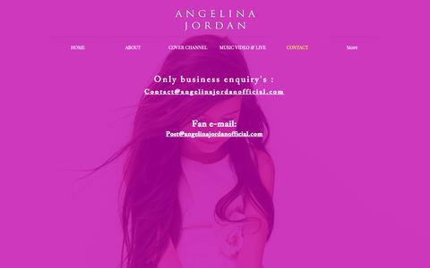 Screenshot of Contact Page angelinajordanofficial.com - Contact - captured Oct. 25, 2018