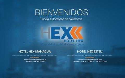 Screenshot of Home Page hotelhex.com - Hotel Hex Nicaragua - captured Sept. 26, 2014