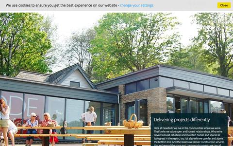 Screenshot of Home Page ease-ds.com - Building Contractors | Construction Services | Devon & Cornwall - captured Oct. 1, 2014
