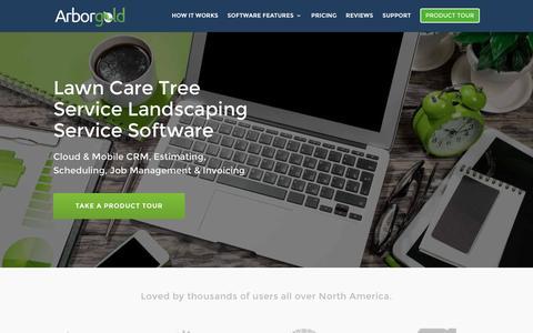 Screenshot of Home Page arborgold.com - Lawn Care Tree Service Landscaping Software - captured Nov. 21, 2016