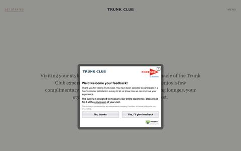 Screenshot of Locations Page trunkclub.com - Visit Our Clubhouses - Trunk Club - captured Nov. 30, 2016