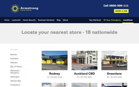 Screenshot of Locations Page armstrong.co.nz - Office Locations | Armstrong NZ - captured Nov. 13, 2018