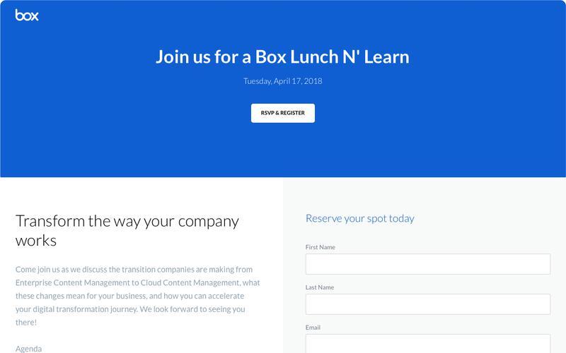 Box Lunch N' Learn