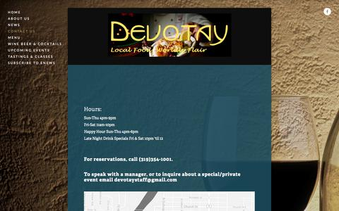 Screenshot of Contact Page devotay.net - Contact Us — Devotay - captured Sept. 30, 2014