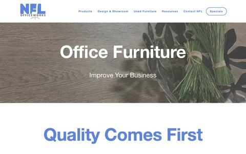 Screenshot of Products Page nflinc.com - Office Furniture — NFL Officeworks - captured Oct. 19, 2018